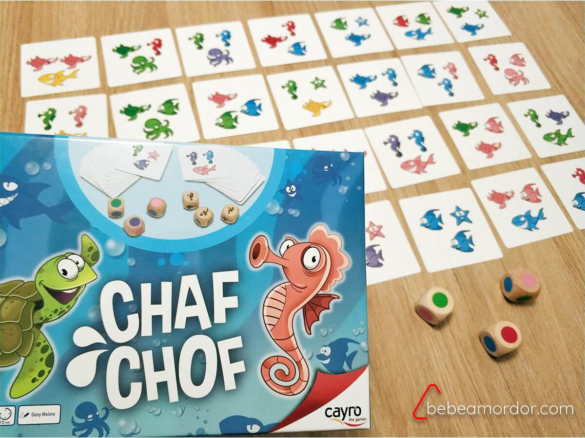 juego de mesa Chaf Chof cartas