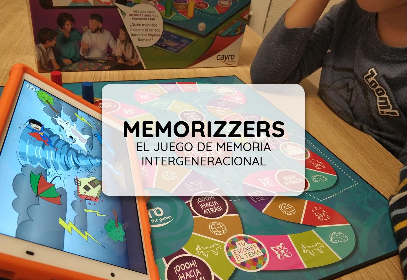 Caja de juego de mesa Memorizzers.