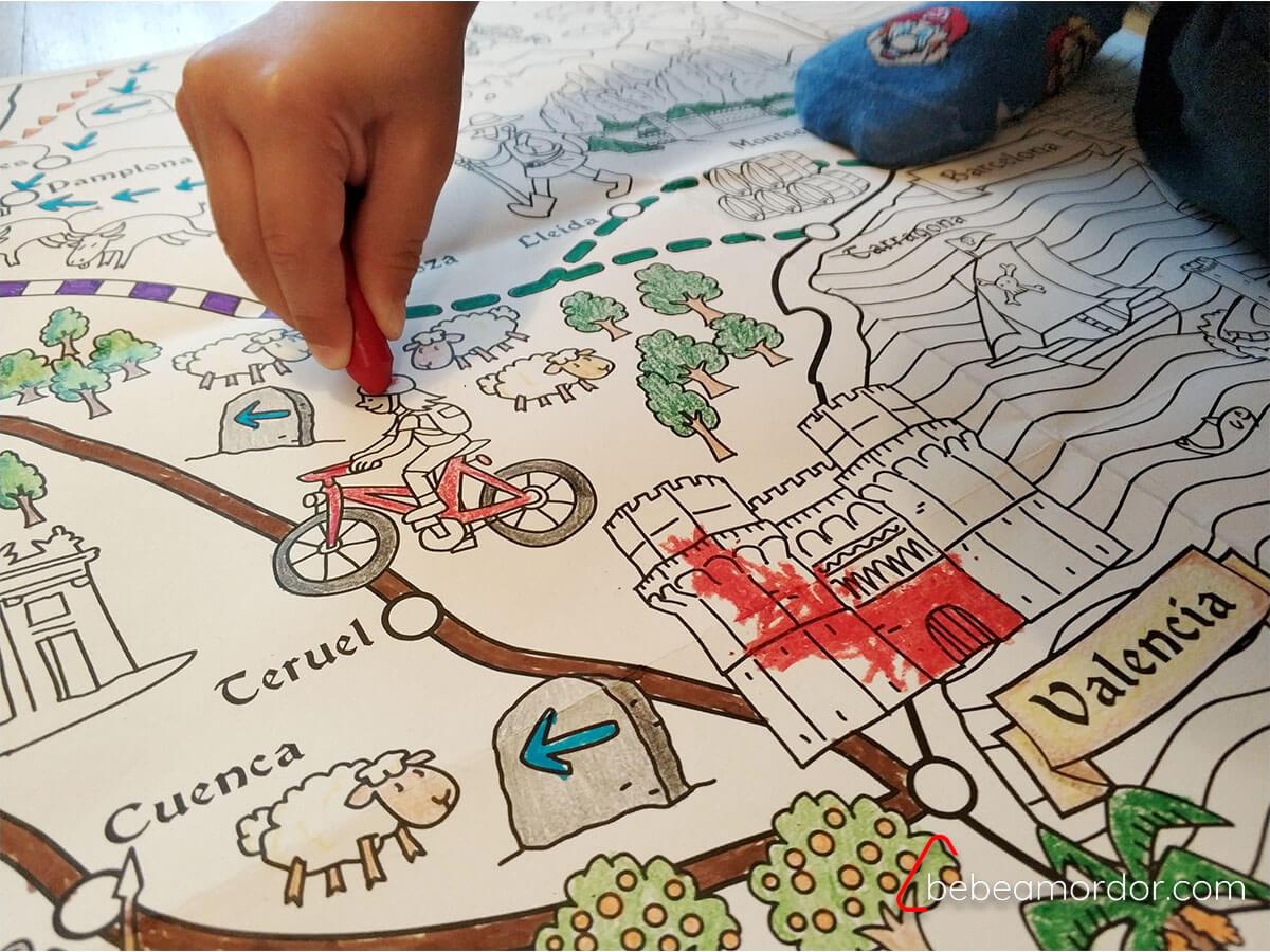 mapas gigantes para colorear de Pinta y Pinto.