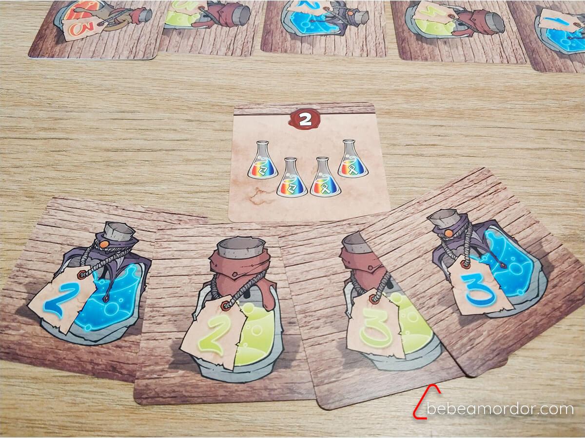 Pociones multicolores juego de mesa de hechizos
