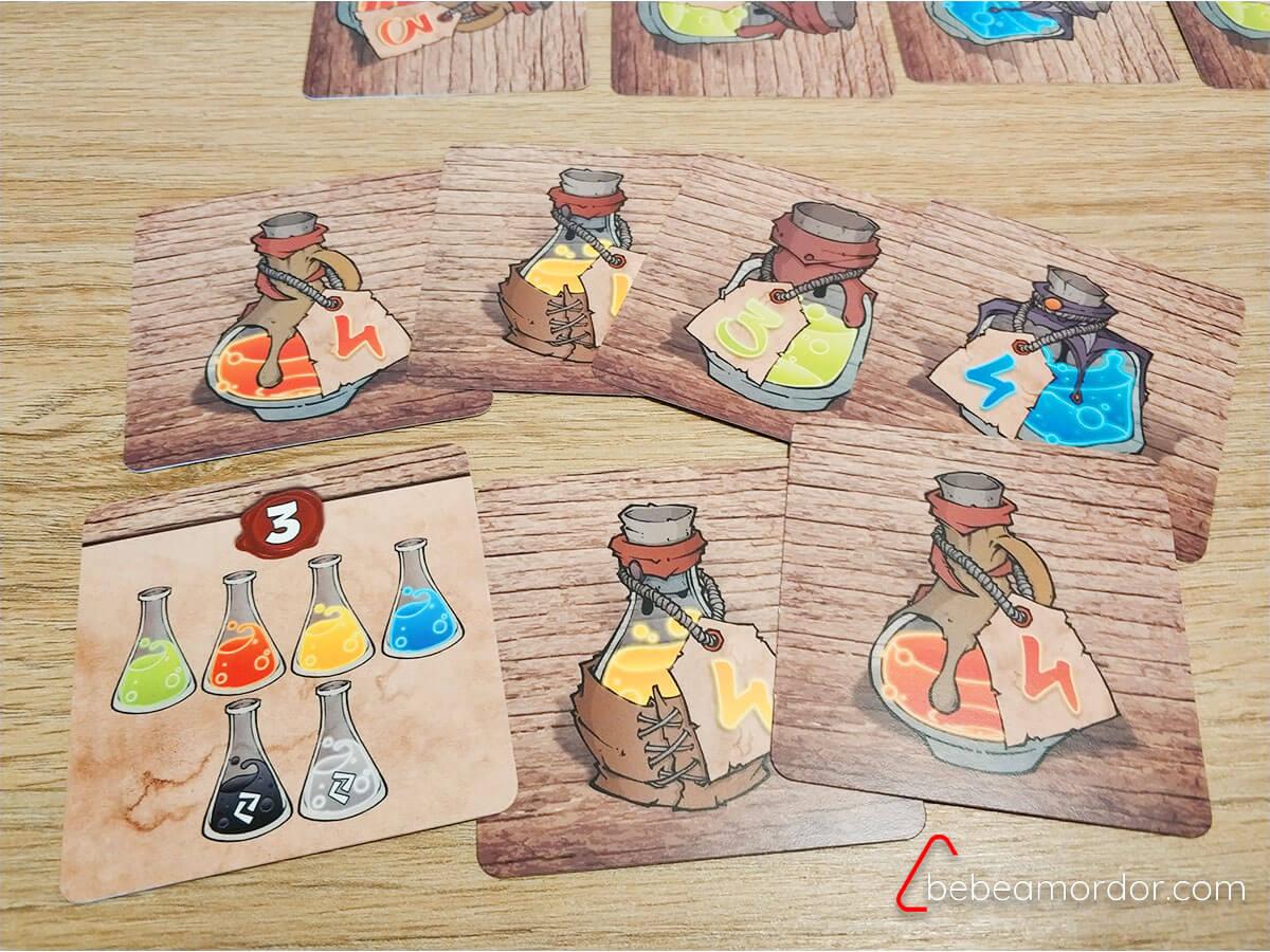 juego de mesa de pociones