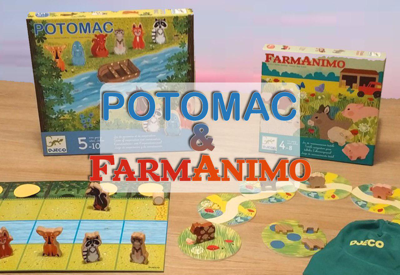 portada juegos de mesa cooperativos Farmanimo y Potomac
