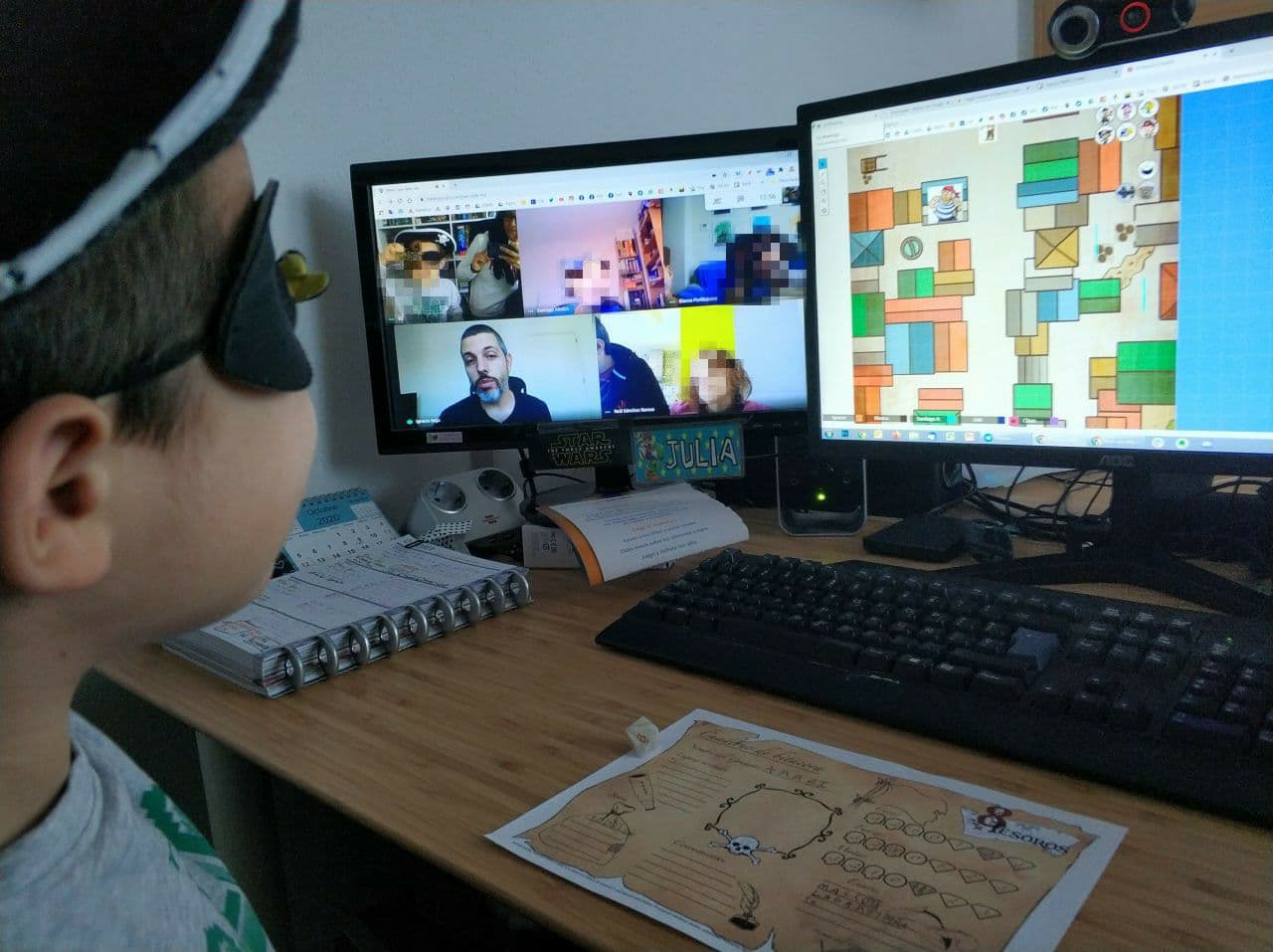 juegos online por videoconferencia en familia con niños rol