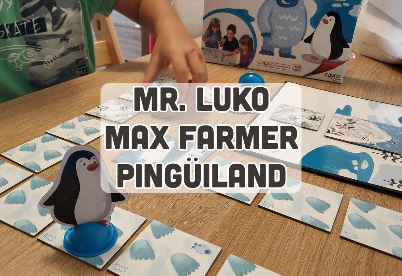 portada reseña juego de mesa cooperativo 3 años Pingüiland Max Farmer Mr Luko Cayro