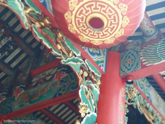 detalle templo chinatown en Tailandia