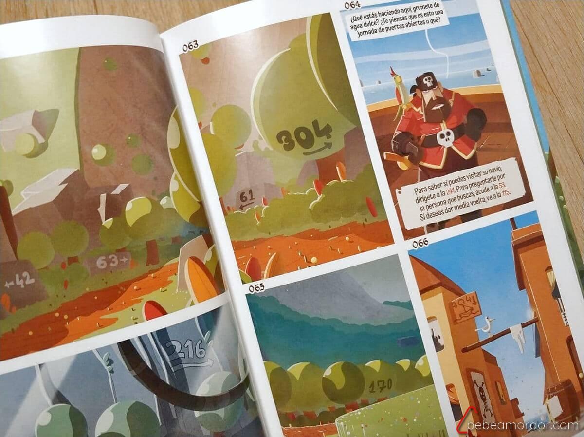 Librojuego Piratas Masqueoca comic de piratas