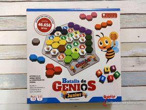 caja del juego batalla de genios junior ludilo