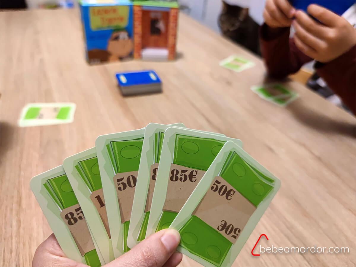 preparación del juego Ladrón Torpón