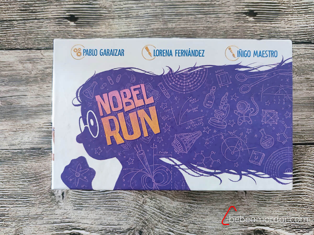caja juego de mesa Nobel Run
