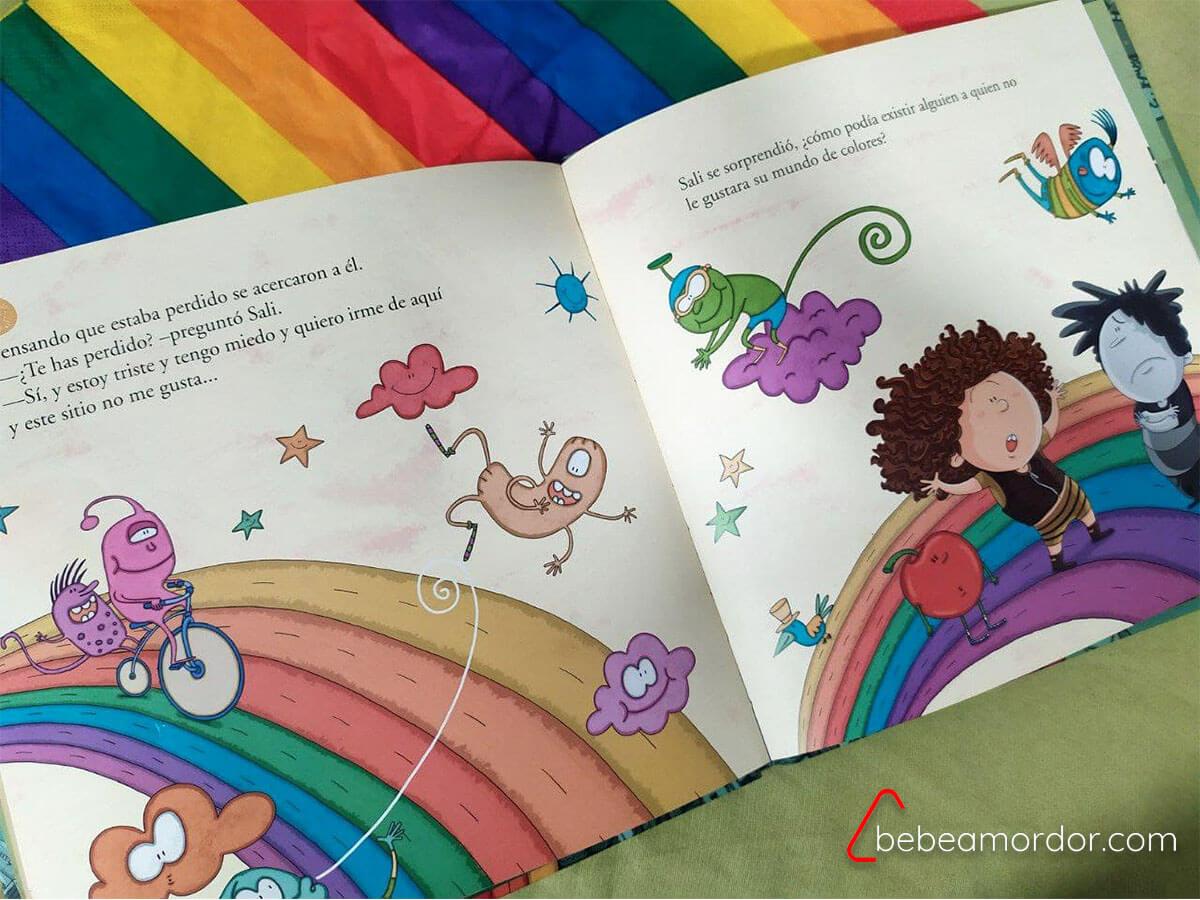 Libros sobre diversidad Sali y el mundo de colores