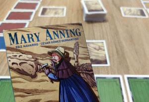 portada reseña juego de mesa Mary Anning