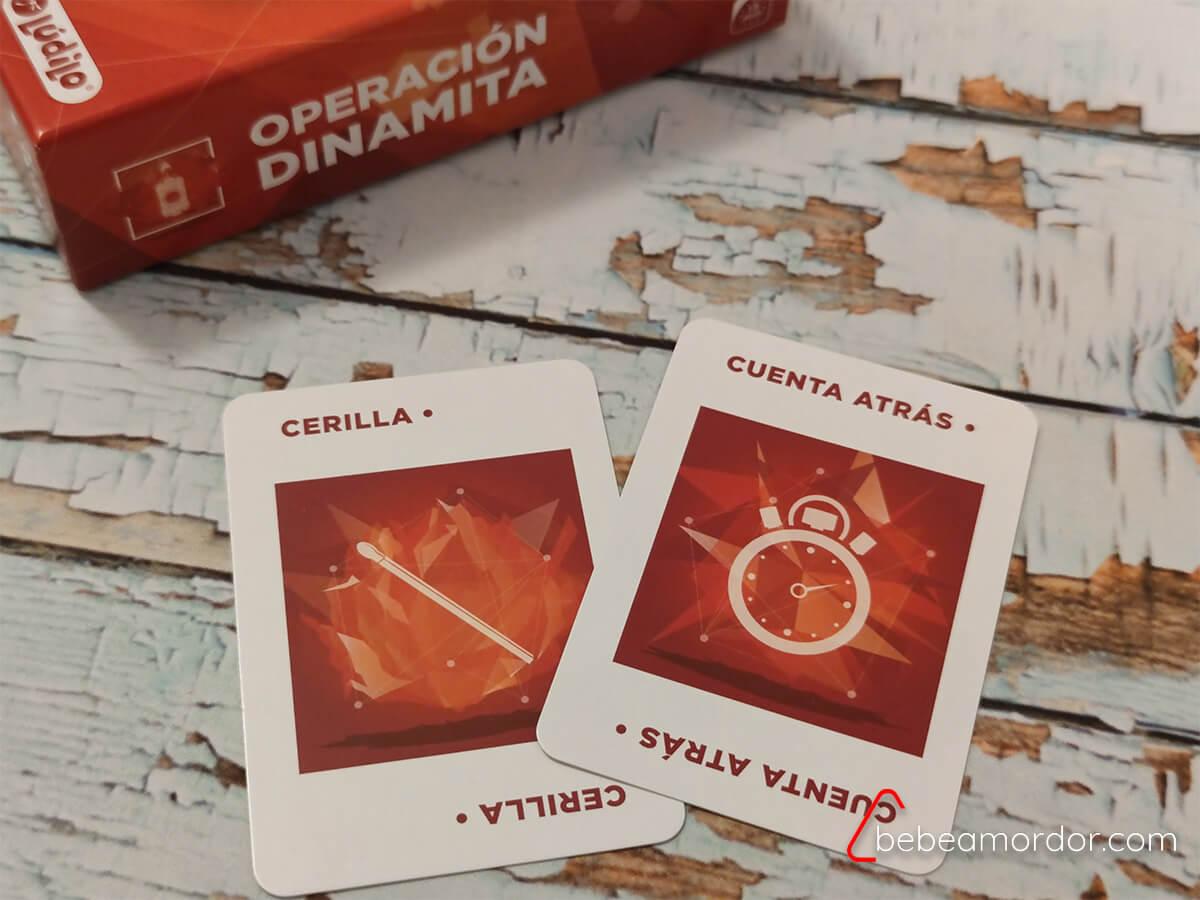 cartas especiales cerilla y cuenta atras dinamita
